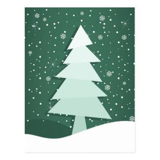 Celebratory tree postcard