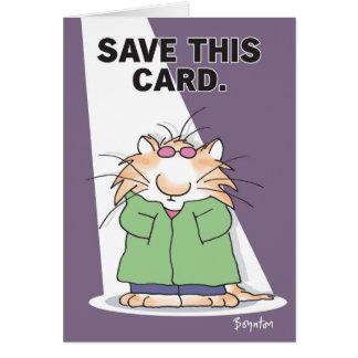 CELEBRITY CAT GREETING CARD