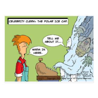 Celebrity Clerk: Polar Ice Cap Postcard