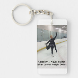 Celebrity & Figure Skater Ishah Laurah Wright Double-Sided Rectangular Acrylic Key Ring