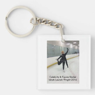 Celebrity & Figure Skater Ishah Laurah Wright Single-Sided Square Acrylic Key Ring