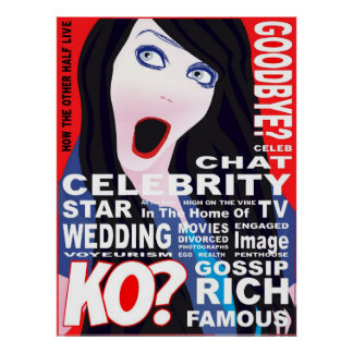 Celebrity Magazine Cover Poster. Poster