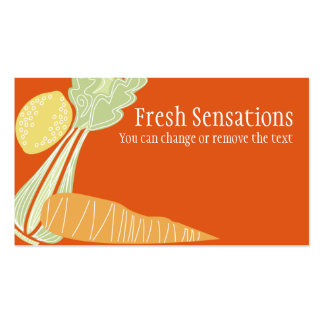 celery carrot lemon fruit vegetable business ca... pack of standard business cards