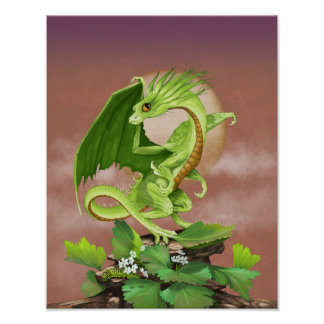 Celery Dragon 11x14 (4x6 and up) Poster