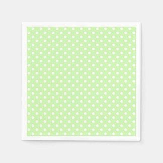 Celery Green and White Polka Dot Pattern Paper Napkin
