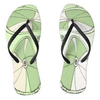 Celery Green Digital Bicycle Wheels Thongs