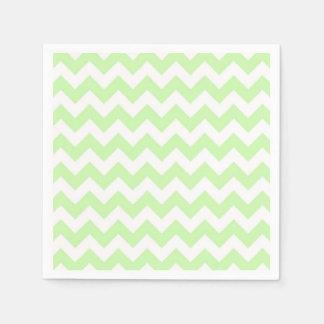 Celery Green, White Chevron ZigZag Pattern Paper Napkin