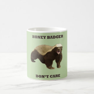 Celery Root Honey Badger Don't Care Pattern Coffee Mug