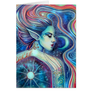 Celesta Surreal Fairy Fantasy Art Celestial Card