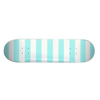 Celeste Horizontal Stripes; Striped 20.6 Cm Skateboard Deck