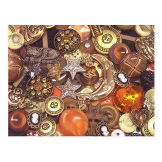 Celestial Amber Buttons Postcard