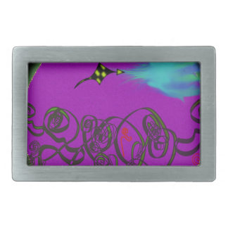 Celestial Battle Rectangular Belt Buckle