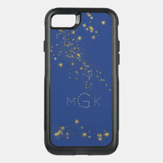 Celestial Blue Starry Skies with Monogram OtterBox Commuter iPhone 8/7 Case