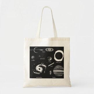 Celestial bodies budget tote bag