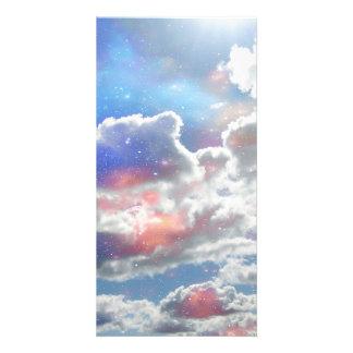 Celestial Clouds Custom Photo Card