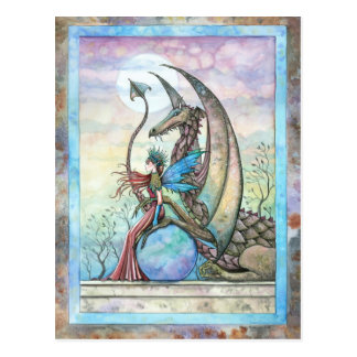 Celestial Compainions Fairy and Dragon Postcard