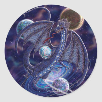 Celestial Dragon Classic Round Sticker
