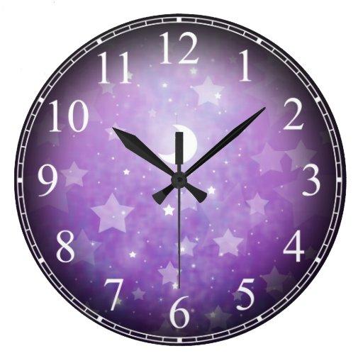 Celestial Dream Stars and Moon Clock