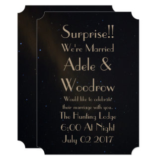 Celestial Dreams elopement and reception Card