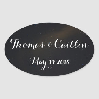 Celestial Dreams with date Oval Sticker
