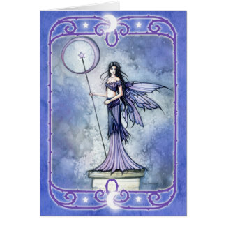 Celestial Fairy Blank Greeting Card
