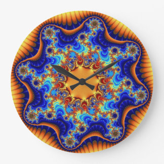Celestial Fractalscope Large Round Wall Clock