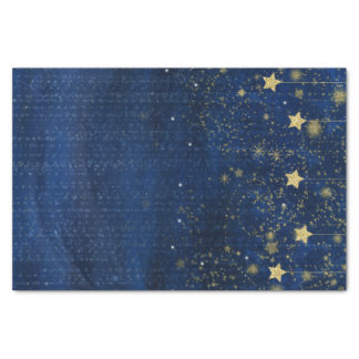 Celestial Gold Stars Sparkle Night Sky Custom Gift Tissue Paper
