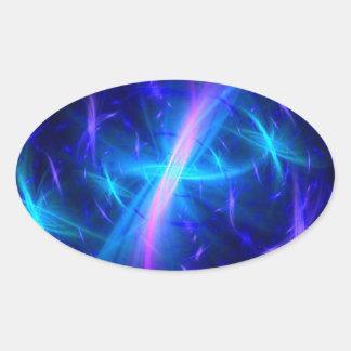 Celestial Grace Oval Sticker