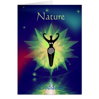 Celestial Green Starburst Nature Goddess! Card
