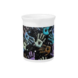 Celestial hands pitcher
