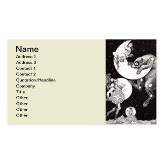 Celestial Moon Goddess Luna Ursa Major and Mars Pack Of Standard Business Cards