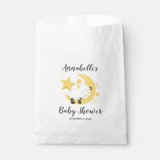 Celestial Moon Stars & Lamb Baby Shower Thank You Favour Bag