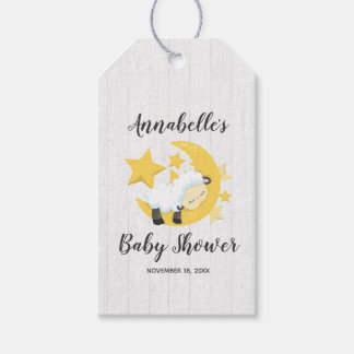 Celestial Moon Stars & Lamb Baby Shower Thank You Gift Tags