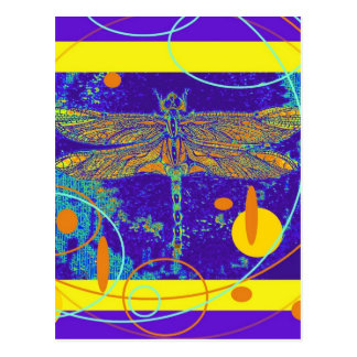 Celestial Mystic Gold Dragonfly by Sharles Postcard