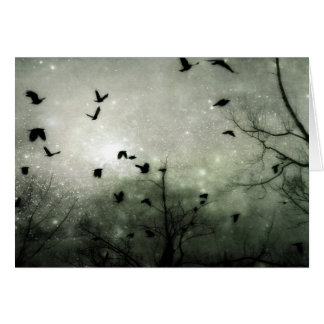 Celestial Night Birds Card