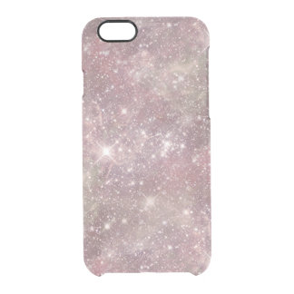 Celestial Pink Stars Clear Transparent Clear iPhone 6/6S Case