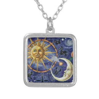 celestial silver plated necklace