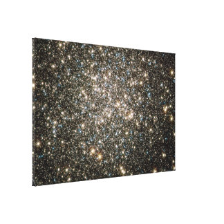 Celestial Snow Globe of Stars Stretched Canvas Print