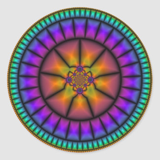 Celestial Sphere Mosaic Round Sticker