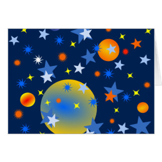 Celestial Stars and Planets Card