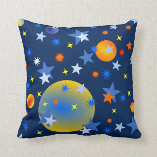 Celestial Stars and Planets Cushion