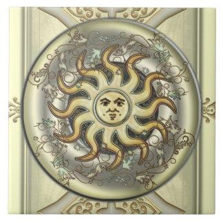 Celestial Sun Ceramic Tile
