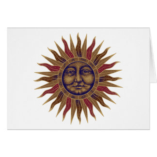Celestial Sun Face Card