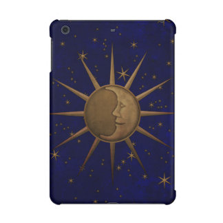 Celestial Sun Moon Brass Bas Relief Graphic