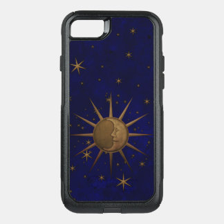 Celestial Sun Moon Brass Bas Relief Graphic OtterBox Commuter iPhone 8/7 Case