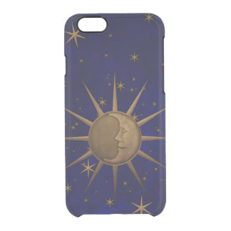 Celestial Sun Moon Starry Night Clear iPhone 6/6S Case
