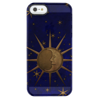 Celestial Sun Moon Starry Night Clear iPhone SE/5/5s Case