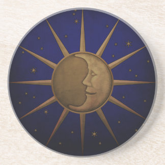 Celestial Sun Moon Starry Night Coaster
