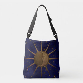 Celestial Sun Moon Starry Night Crossbody Bag