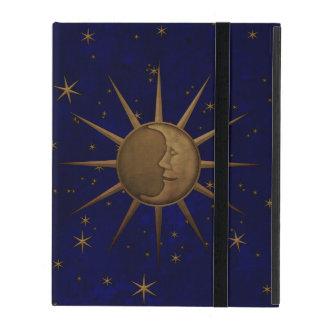 Celestial Sun Moon Starry Night iPad Cover